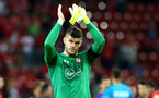 Fraser Forster during the UEFA Europa League match between Hapoel Be'er Sheva F.C. and Southampton at Turner Stadium, Beersheba, Israel on 29 September 2016. Photo by Matt  Watson/SFC/Digital South.