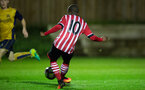 siph mdlalose goal attempt during Southampton FC U23 v Bristol City U23 in the premier league cup, at Staplewood, Southampton, 30th September  2016, pic by Naomi Baker/Southampton FC