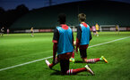 richard bakary and will smallbone warm up during Southampton FC U23 v Bristol City U23 in the premier league cup, at Staplewood, Southampton, 30th September  2016, pic by Naomi Baker/Southampton FC