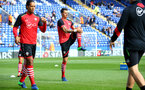Jose Fonte warms up during the Premier League match between Leicester City and Southampton at the King Power Stadium, Leicester, England on 2 October 2016. Photo by Matt  Watson/SFC/Digital South.