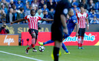 Cuco Martina during the Premier League match between Leicester City and Southampton at the King Power Stadium, Leicester, England on 2 October 2016. Photo by Matt  Watson/SFC/Digital South.
