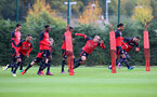 Saints players during a Southampton FC training session at the Staplewood Campus, Southampton, 28th October 2016
