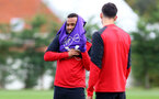 Ryan Bertrand during a Southampton FC training session at the Staplewood Campus, Southampton, 28th October 2016