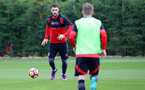 Charlie Austin during a Southampton FC training session at the Staplewood Campus, Southampton, 28th October 2016