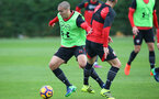 Oriol Romeu during a Southampton FC training session at the Staplewood Campus, Southampton, 28th October 2016