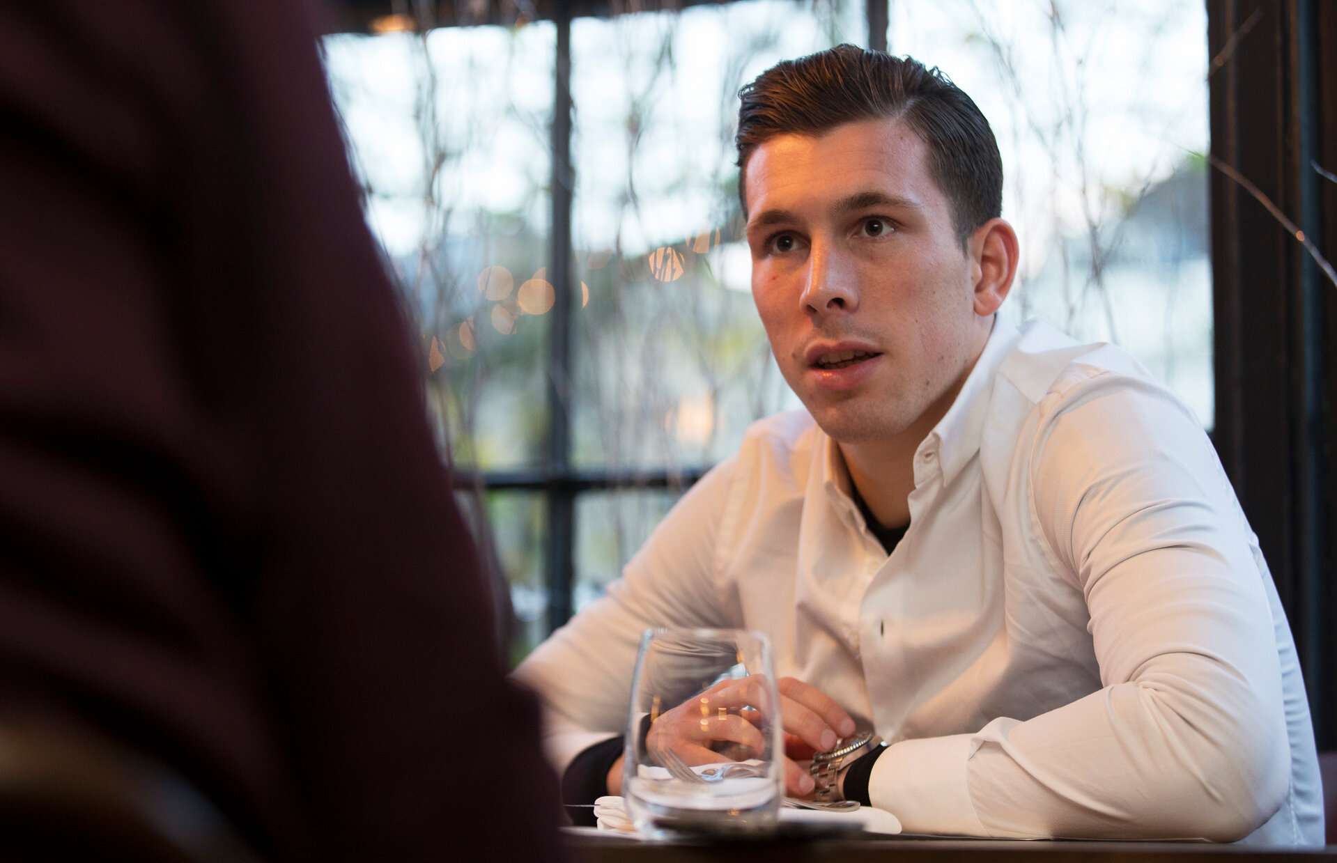 Pierre-Emile Hojbjerg pictured for Saints magazine, in Winchester, 22nd November 2016