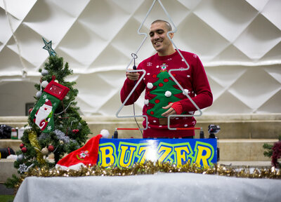 #SaintsXmas Day Three: Christmas Tree Buzzer challenge