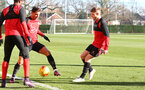 Cedric and Josh Sims during a Southampton FC training session at the Staplewood Campus, Southampton, 29th November 2016