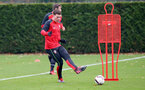 Pierre-Emile Hojbjerg during a Southampton FC training session at The Staplewood Campus, 7th December 2016