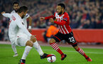 Nathan Redmond during the UEFA Europa League match between Southampton and Hapoel Be'er Sheva F.C. at St Mary's Stadium, Southampton, England on 8 December 2016. Photo by Matt Watson/SFC/Digital South.