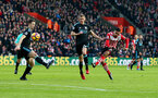Sofiane Boufal shoots at goal during the Premier League match between Southampton and West Bromwich Albion at St Mary's Stadium, Southampton, England on 31 December 2016. Photo by Matt Watson/SFC/Digital South.