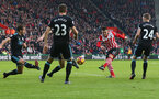 Dusan Tadic shoots at goal during the Premier League match between Southampton and West Bromwich Albion at St Mary's Stadium, Southampton, England on 31 December 2016. Photo by Matt Watson/SFC/Digital South.