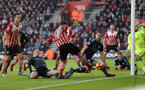 Pierre-Emile Hojbjerg (Southampton), Jonny Evans (West Brom) and Craig Dawson (West Brom) battle for the ball during the Premier League match between Southampton and West Bromwich Albion at St Mary's Stadium, Southampton, England on 31 December 2016.