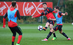 Shane Long during a Southampton FC training session at the Staplewood Campus, Southampton, 30th March 2017