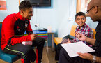 Southampton FC players visit children, parents and staff at Southampton General Hospital, 12th April 2017, photo by Naomi Baker