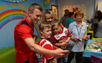 Southampton FC player James Ward-Prowse visits children, parents and staff at Southampton General Hospital, 12th April 2017, photo by Matt Watson
