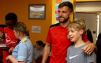 Southampton FC's Jay Rodriguez, as players visit children, parents and staff at Southampton General Hospital, 12th April 2017, photo by Matt Watson