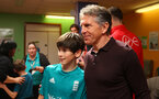 Southampton FC manager Claude Puel, as players and staff visit children, parents and staff at Southampton General Hospital, 12th April 2017, photo by Matt Watson