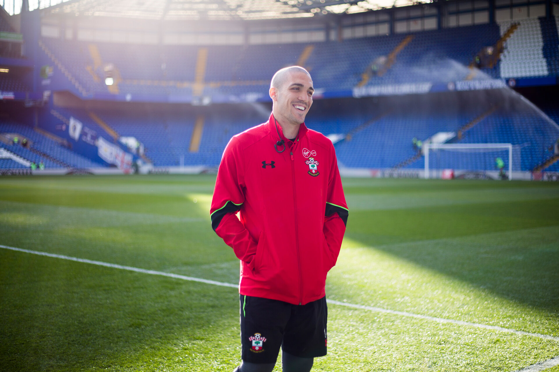 oriol romeu during the Premier League match between Chelsea and Southampton at Stamford Bridge, London. Photo by Naomi Baker/SFC/Digital South.