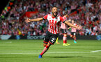 Nathan Redmond celebrates during the Premier League match between Southampton and Watford at St Mary's Stadium, Southampton, England on 13 August 2016. Photo by Matt Watson/SFC/Digital South.