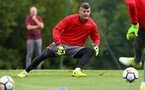 Fraser Forster during a Southampton FC pre-season training session, in Evian, France, 25th July 2017