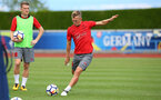 James Ward-Prowse during a Southampton FC pre-season training session, in Evian, France, 28th July 2017