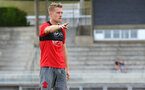 Steven Davis during a Southampton FC pre-season training session, in Evian, France, 28th July 2017