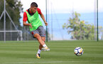 Jeremy Pied during a Southampton FC pre-season training session, in Evian, France, 28th July 2017
