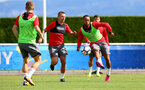 Nathan Redmond during a Southampton FC pre-season training session, in Evian, France, 28th July 2017