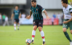 Charlie Austin during a pre season friendly between St Etienne(white) and Southampton FC(black), at The Stade Municipal de Chambéry, France, 29th July 2017