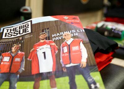 Saints fans raise vital funds for Big Issue