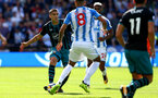 HUDDERSFIELD, ENGLAND - AUGUST 26: Oriol Romeu during the Premier League match between Huddersfield Town and Southampton at the John Smith Stadium on August 26, 2017 in Huddersfield, England. (Photo by Matt Watson/Southampton FC via Getty Images)