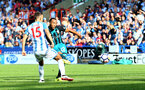 HUDDERSFIELD, ENGLAND - AUGUST 26: Southampton' Nathan Redmond shoots at goal during the Premier League match between Huddersfield Town and Southampton at the John Smith Stadium on August 26, 2017 in Huddersfield, England. (Photo by Matt Watson/Southampton FC via Getty Images)