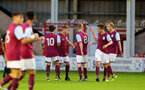 WALSALL, ENGLAND - SEPTEMBER 11: Villa go 1-0 up during the Premier League 2 match between Aston Villa and Southampton, at Banks' Stadium on September 11, 2017 in Walsall, England. (Photo by Matt Watson/Southampton FC via Getty Images)