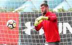 SOUTHAMPTON, ENGLAND - SEPTEMBER 19: Fraser Forster during a Southampton FC training session at the Staplewood Campus on September 19, 2017 in Southampton, England. (Photo by Matt Watson/Southampton FC via Getty Images)