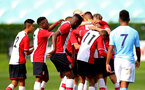 SOUTHAMPTON, ENGLAND - SEPTEMBER 20: William Smallbone scores from freekick during the game between Southampton FC U18's vs Man City U18's at the Staplewood Campus on September 20, 2017 in Southampton, England. (Photo by James Bridle - Southampton FC/Southampton FC via Getty Images)