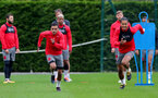 SOUTHAMPTON, ENGLAND - SEPTEMBER 21: Sofiane Boufal(left) Virgil Van Dijk during a Southampton FC training session at the Staplewood Campus on September 21, 2017 in Southampton, England. (Photo by Matt Watson/Southampton FC via Getty Images)