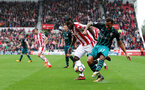 STOKE ON TRENT, ENGLAND - SEPTEMBER 30: Southampton's Ryan Bertrand  during the Premier League match between Stoke City and Southampton at the Bet365 Stadium on September 30, 2017 in Stoke on Trent, England. (Photo by Matt Watson/Southampton FC via Getty Images)