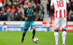 STOKE ON TRENT, ENGLAND - SEPTEMBER 30: Southampton's Nathan Redmond during the Premier League match between Stoke City and Southampton at the Bet365 Stadium on September 30, 2017 in Stoke on Trent, England. (Photo by Matt Watson/Southampton FC via Getty Images)