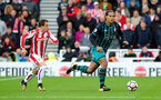 STOKE ON TRENT, ENGLAND - SEPTEMBER 30: Southampton's Virgil Van Dijk(right) during the Premier League match between Stoke City and Southampton at the Bet365 Stadium on September 30, 2017 in Stoke on Trent, England. (Photo by Matt Watson/Southampton FC via Getty Images)