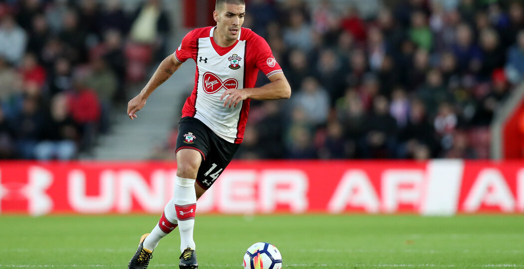 SOUTHAMPTON, ENGLAND - OCTOBER 21: Southampton's Oriol Romeu during the Premier League match between Southampton and West Bromwich Albion at St Mary's Stadium on October 21, 2017 in Southampton, England. (Photo by Matt Watson/Southampton FC via Getty Images)