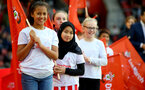 SOUTHAMPTON, ENGLAND - OCTOBER 21: Children of Southampton help support the ÔOne MarchÕ campaign ahead of the Premier League match between Southampton and West Bromwich Albion at St Mary's Stadium on October 21, 2017 in Southampton, England. (Photo by James Bridle - Southampton FC/Southampton FC via Getty Images) SOUTHAMPTON, ENGLAND - OCTOBER 21: Children of Southampton help support the 'One March' campaign ahead of the Premier League match between Southampton and West Bromwich Albion at St Mary's Stadium on October 21, 2017 in Southampton, England. (Photo by James Bridle - Southampton FC/Southampton FC via Getty Images)