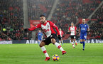 SOUTHAMPTON, ENGLAND - DECEMBER 13: Southampton's Sofiane Boufal during the Premier League match between Southampton and Leicester City at St Mary's Stadium on December 13, 2017 in Southampton, England. (Photo by Matt Watson/Southampton FC via Getty Images)