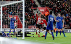 SOUTHAMPTON, ENGLAND - DECEMBER 13: Southampton's Dusan Tadic scores during the Premier League match between Southampton and Leicester City at St Mary's Stadium on December 13, 2017 in Southampton, England. (Photo by Matt Watson/Southampton FC via Getty Images)