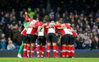 LONDON, ENGLAND - DECEMBER 16: Saints huddle during the Premier League match between Chelsea and Southampton at Stamford Bridge on December 16, 2017 in London, England. (Photo by Matt Watson/Southampton FC via Getty Images)