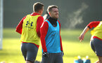 SOUTHAMPTON, ENGLAND - DECEMBER 19: Steven Davis (middle) during a Southampton FC training session at Staplewood Complex on December 19, 2017 in Southampton, England. (Photo by James Bridle - Southampton FC/Southampton FC via Getty Images)
