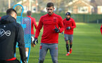 SOUTHAMPTON, ENGLAND - DECEMBER 19: Jack Stephens (middle) during a Southampton FC training session at Staplewood Complex on December 19, 2017 in Southampton, England. (Photo by James Bridle - Southampton FC/Southampton FC via Getty Images)