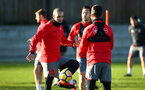 SOUTHAMPTON, ENGLAND - DECEMBER 28: Oriol Romeu (left) during a Southampton FC training session at Staplewood Complex on December 28, 2017 in Southampton, England. (Photo by James Bridle - Southampton FC/Southampton FC via Getty Images)