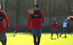 SOUTHAMPTON, ENGLAND - DECEMBER 28: Jan Bednarek (middle) during a Southampton FC training session at Staplewood Complex on December 28, 2017 in Southampton, England. (Photo by James Bridle - Southampton FC/Southampton FC via Getty Images)