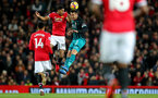 MANCHESTER, ENGLAND - DECEMBER 30: Southampton's Maya Yoshida(R) and Marcus Rashford of Manchester United during the Premier League match between Manchester United and Southampton at Old Trafford on December 30, 2017 in Manchester, England. (Photo by Matt Watson/Southampton FC via Getty Images)